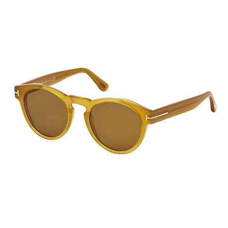 Unisex Margaux Sunglasses // Yellow + Brown