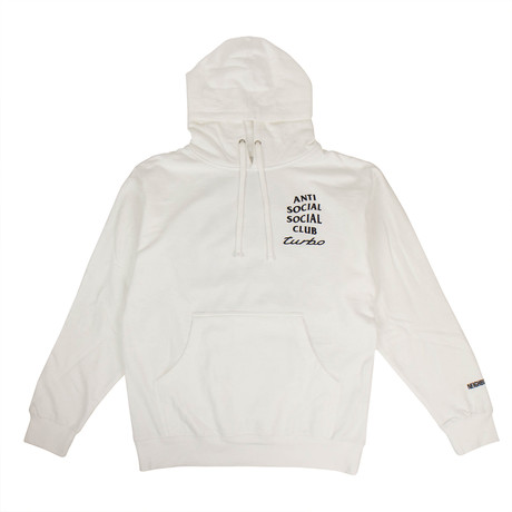 ASSC Turbo Logo Hoodie // White (S)