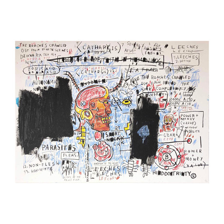 Jean-Michel Basquiat // Leeches // 1982-83 // 2017