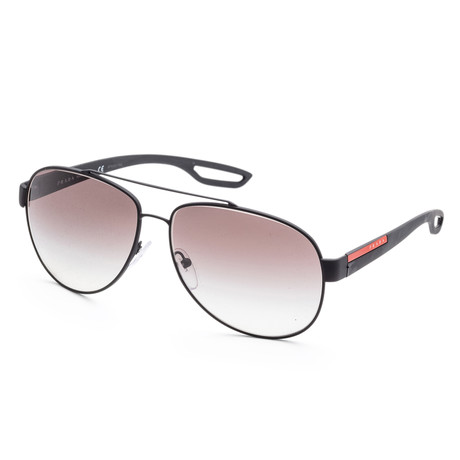 Men's PS55QS-DG00A762 Linea Rossa Polarized Sunglasses // Black + Gray Gradient