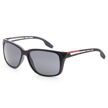 Men's PS03TS-1BO5S059 Linea Rossa Sunglasses // Matte Black + Gray