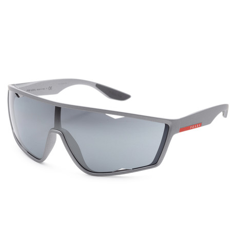 Men's PS09US-4495L040 Linea Rossa Polarized Sunglasses // Dark Gray + Black Mirror