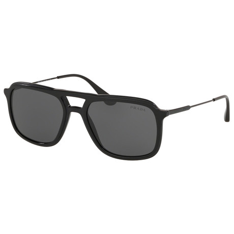 Men's 0PR06VS-1AB1A1 Sunglasses // Black + Gray