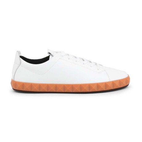 Geometric Sole Sneaker // White (UK: 4)