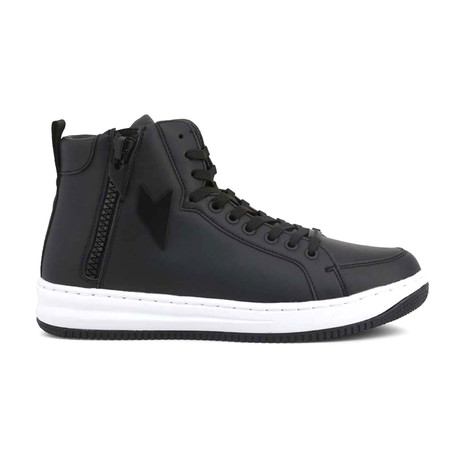 High Top Sneaker // Black (UK: 4)