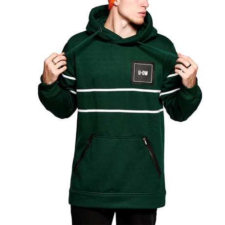 Technical Hoody // Green + White (S)