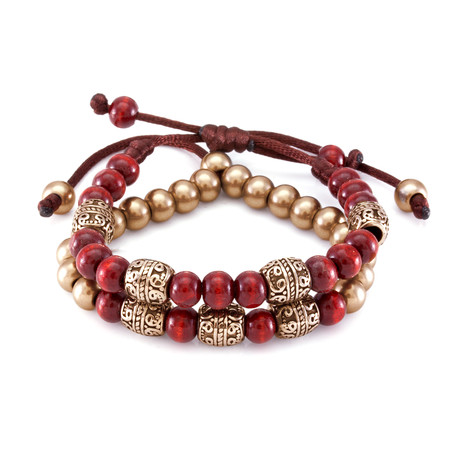 The Red Steel Band Bracelet // Gold