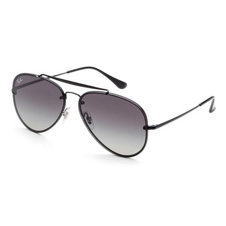 Ray-Ban // Men's Blaze Aviator RB3584N Sunglasses // Black + Gray Gradient