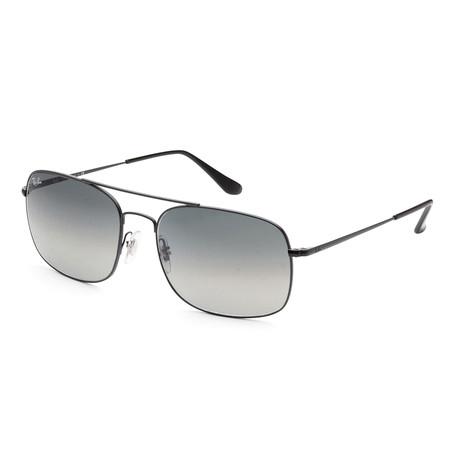 Ray-Ban // Men's Classic RB3611-006-71 Sunglasses // Matte Black + Gray Gradient + Dark Gray