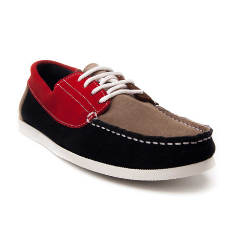 Quebramarcombi Nautical Shoe // Red + Brown + Navy (Euro: 40)