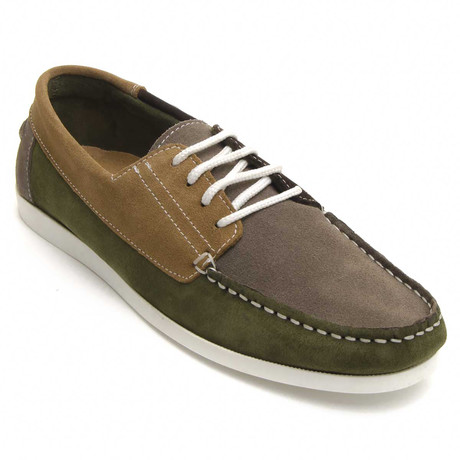 Quebramarcombi Nautical Shoe // Green + Brown + Taupe (Euro: 40)