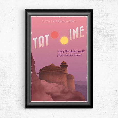 "Tatooine Travel Poster // Star Wars (11""W x 17""H)"