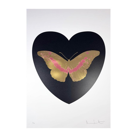 Damien Hirst // I Love You - Black/Cool Gold/Loganberry // 2015