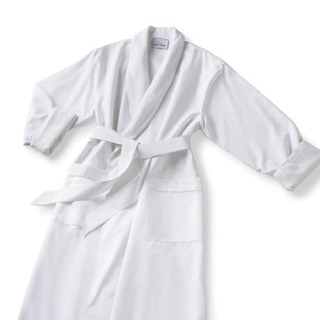 Microfiber Shawl Collar Robe // White