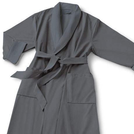 Microfiber Shawl Collar Robe // Gray