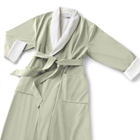 Microfiber Shawl Collar Robe // Sage