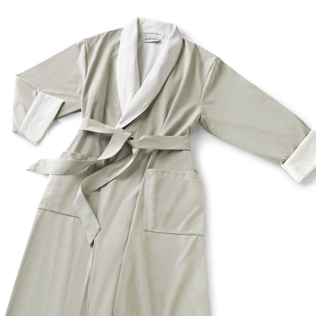 Microfiber Shawl Collar Robe // Parchment