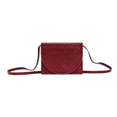 Bottega Veneta // Women's Mini Crossbody Wallet // Bordeaux