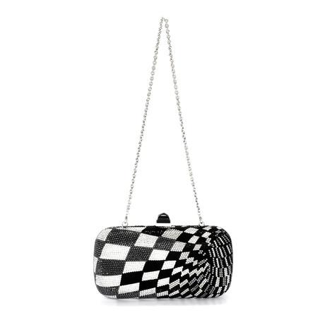 Judith Leiber // Women's Soap Dish Clutch Handbag // Black + Silver