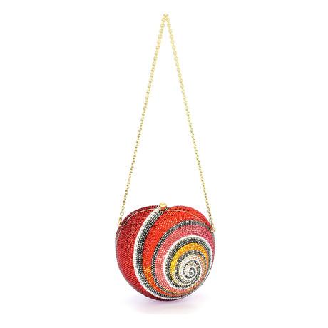 Judith Leiber // Women's Snail Shell Clutch Handbag // Red