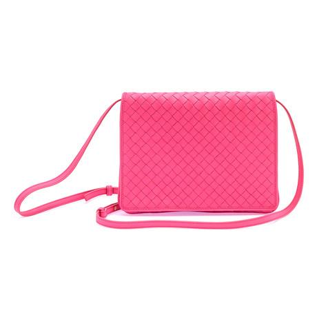 Bottega Veneta // Women's Messenger Bag // Neon Pink