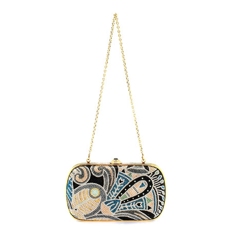 Judith Leiber // Women's Soft Sided Rectangle Clutch Handbag // Multicolor