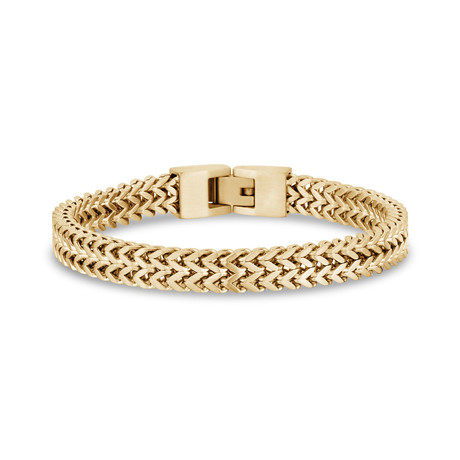 "Double Franco Bracelet // 8mm // Gold Plated (7.5""L)"