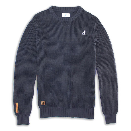 7 Gauge Combed Cotton Sweater // Navy (S)
