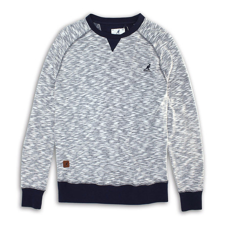 Inject Effect Knit Sweater // Navy (S)