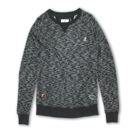 Inject Effect Knit Sweater // Black (S)