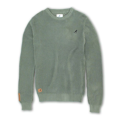 7 Gauge Combed Cotton Sweater // Fern (S)