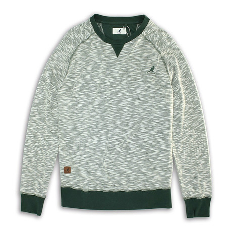 Inject Effect Knit Sweater // Ace Green (S)