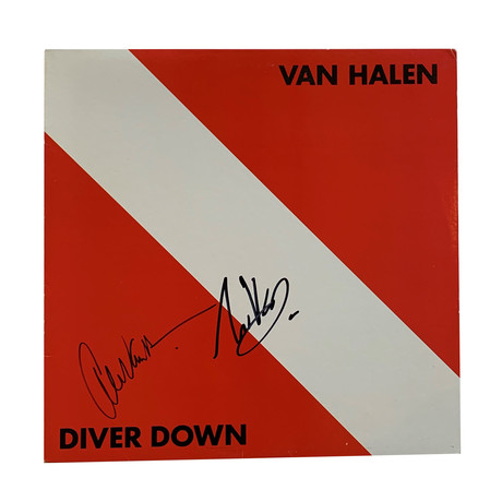Eddie And Alex Van Halen // Autographed Vinyl Record Album