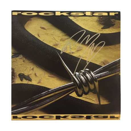 "Post Malone // Autographed ""Rockstar"" 12″ Single Vinyl Record Album"
