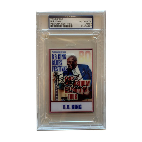 Bb King // Autographed Backstage Pass (Laminate) // His Original Pass