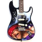 Carlos Santana // Autographed Fender Guitar