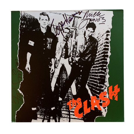 The Clash // Autographed (Debut) Vinyl Record Album