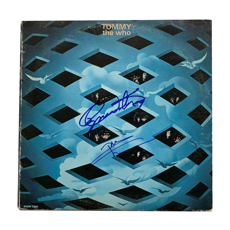 "Daltrey And Townshend // Autographed The Who ""Tommy"" Vinyl Record Album"