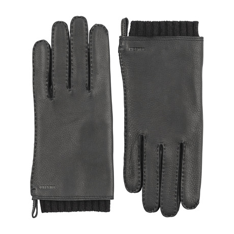 Tony Leather Gloves // Black (Size: 7)