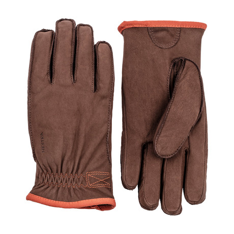 Tived Leather Work Gloves // Espresso (Size: 7)
