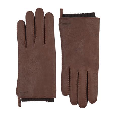 Tony Leather Gloves // Chocolate (Size: 7)