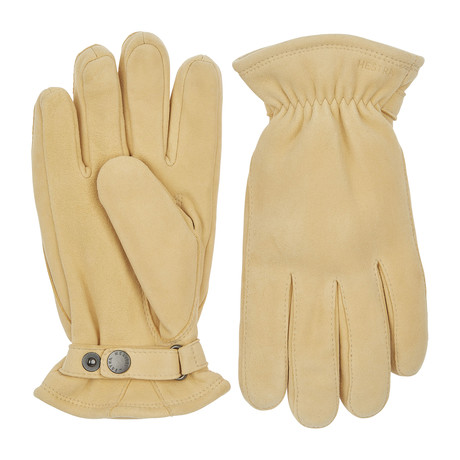 Torgil Leather Gloves // Natural Yellow (Size: 8)