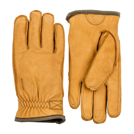Tived Leather Work Gloves // Tan (Size: 7)