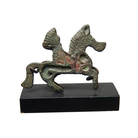 Romano-British Enameled Brooch // Horse and Rider
