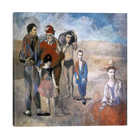 """Family of Saltimbanques // Pablo Picasso (26""""W x 26""""H x 1.5""""D)"""