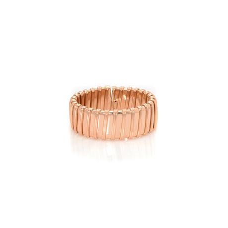 Roberto Coin 18k Rose Gold Nabucco Wide Bangle Bracelet // Store Display