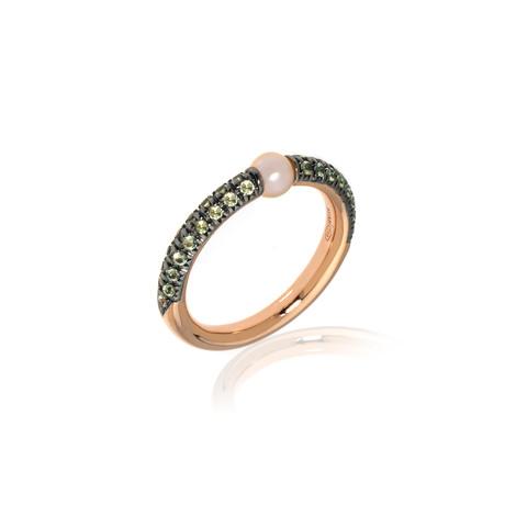 Mimi Milano Nagai Sirenette 18k Rose Gold + Pearl Ring // Ring Size 6.5 // Store Display