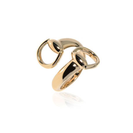 Gucci 18k Yellow Gold Horsebit Ring // Ring Size 8 // Store Display