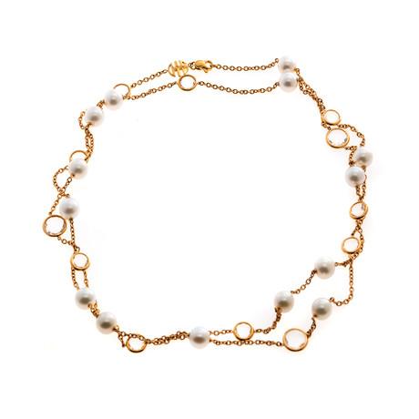 Mimi Milano EN 18k Rose Gold + Pearl Necklace // Store Display