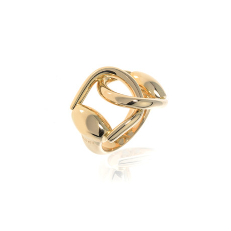 Gucci 18k Yellow Gold Horsebit Ring // Ring Size 7.25 // Store Display